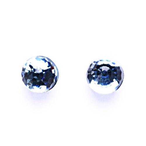 Náušnice stříbrné s krystalem Swarovski akvamarín disco koule NŠ 1311