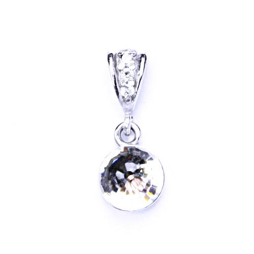 1 Přívěšek stříbrný s krystalem Swarovski koule disco krystal čirý, P 1311