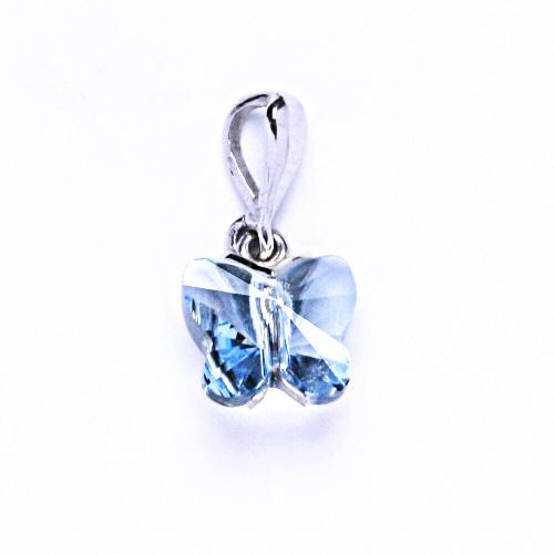 Přívěšky stříbrné s krystalem Swarovski akvamarín, P 1307