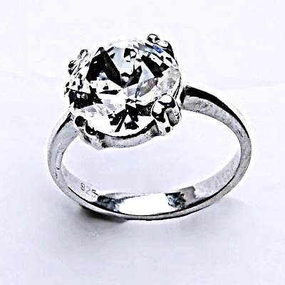 Stříbrný prsten, krystal Swarovski,šperky s krystaly,prstýnek ze stříbra, T 1225