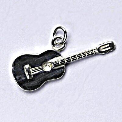Stříbrný přívěšek, kytara, přívěsek ze stříbra P 193