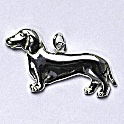 Stříbrný přívěšek, jezevčík, pes, přívěsek ze stříbra P 199