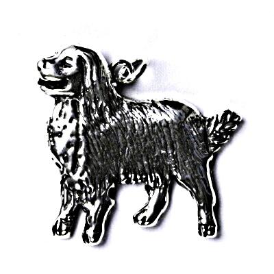 Stříbrný přívěšek s patinou, bernský salašnický pes, přívěsek ze stříbra P 200