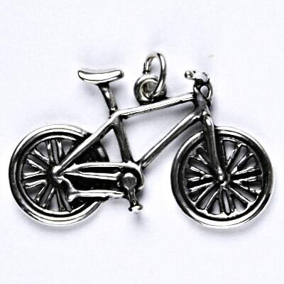 Stříbrný přívěsek kolo s patinou, přívěsek ze stříbra, P 232