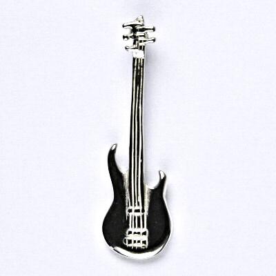 Stříbrný přívěsek, basová kytara - basovka přívěsek ze stříbra, P 228