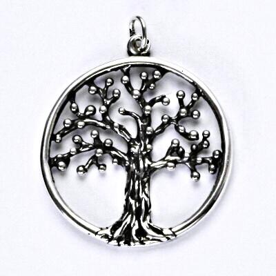 Stříbrný přívěsek, strom života s patinou, přívěsek ze stříbra, P 262