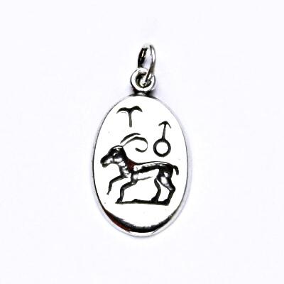 Stříbrný přívěšek s patinou,znamení zvěrokruhu,beran,přívěsek ze stříbra, P 902