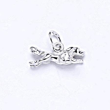 Stříbrný přívěšek, figurka jezevčík, přívěšek ze stříbra, P 302
