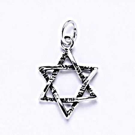 Stříbrný přívěsek, Davidova hvězda, přívěšek ze stříbra, P 743
