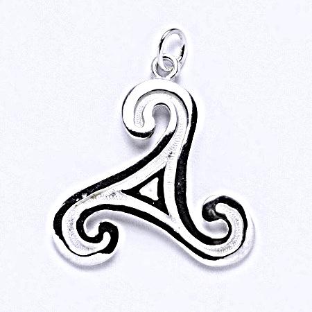 Stříbrný přívěšek. keltský motiv, přívěšek ze stříbra, P 710
