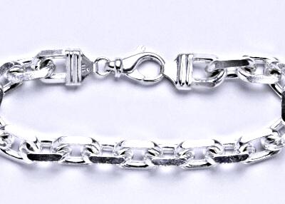 Stříbrný pánský silný náramek, řetěz, šperk