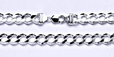 Stříbrný pánský silný řetěz na krk, šperk