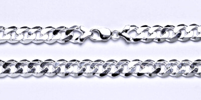 Stříbrný pánský silný řetěz na krk, šperk,délka 55