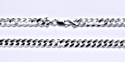 Stříbrný pánský silný náramek, řetěz, šperk, 1