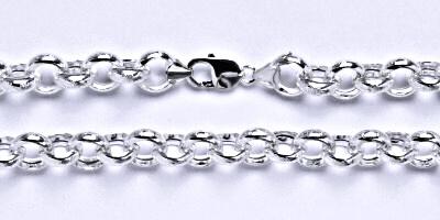 Stříbrný pánský silný řetěz na krk, šperk, 4