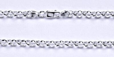 Stříbrný silný náramek, řetěz, šperk 4
