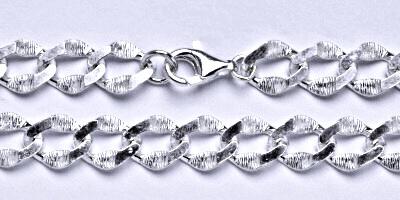 Stříbrný silný řetízek na krk, šperk,8
