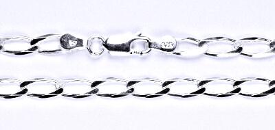 Stříbrný silný řetízek na krk, šperk,10