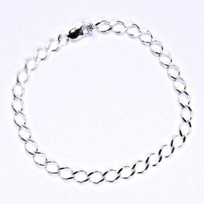 Stříbrný náramek rombo single 1,00, 23 cm