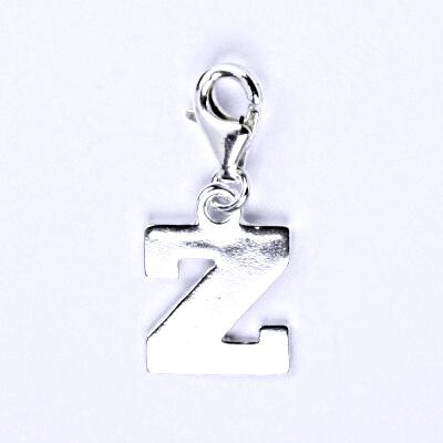 Stříbrný přívěšek písmenko Z na karabince, P 904