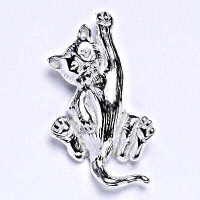 Stříbrný přívěsek kočka, přívěsek ze stříbra, P 966