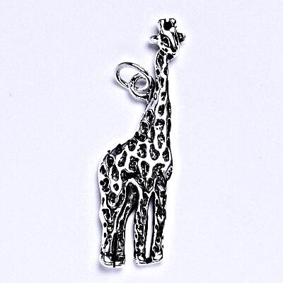 Stříbrný přívěsek s patinou žirafa, přívěsek ze stříbra, P 956
