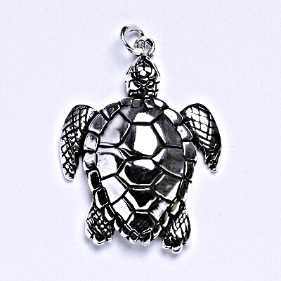 Stříbrný přívěšek s patinou, želva, přívěšek ze stříbra, P 938