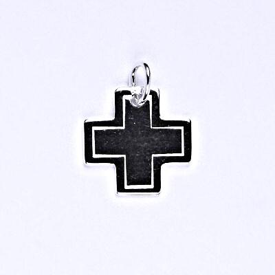 Stříbrný přívěsek, křížek, přívěšek ze stříbra, P 971