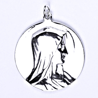 Stříbrný přívěsek, madonka, přívěšek ze stříbra, P 995