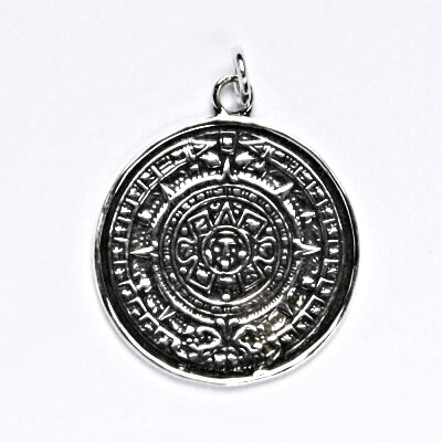 Stříbrný přívěsek s patinou, pentagram, přívěsek ze stříbra, P 103