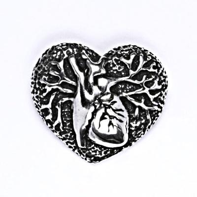 Stříbrný přívěšek srdce s patinou, přívěsek srdce P 169