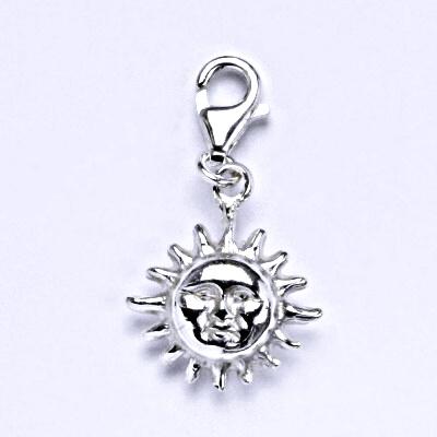 Stříbrný přívěšek s karabinou, slunce, přívěšek ze stříbra P 713