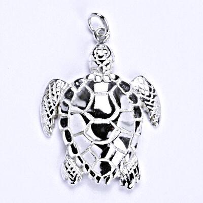 Stříbrný přívěšek, želva, přívěšek ze stříbra, P 938