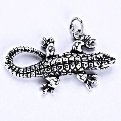 Stříbrný přívěšek, ještěrka, přívěšek ze stříbra, P 940