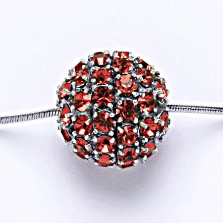 Stříbrný přívěšek koule se Swarovski krystalem paparadscha P 1338