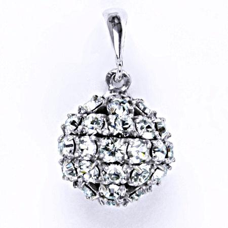 Stříbrný přívěšek koule se Swarovski krystalem light azore,šperk P 1369/6