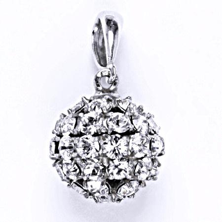 Stříbrný přívěšek koule se Swarovski krystalem crystal,šperk P 1369/6