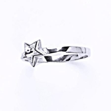 Prsten stříbrný s krystalem swarovski čirý,šperk T 1326