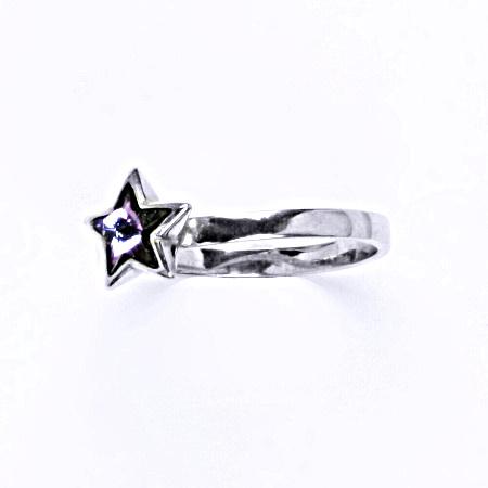 Prsten stříbrný s krystalem swarovski vitrail light,šperk T 1326