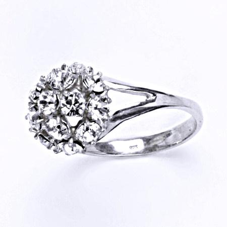 Prsten stříbrný s krystalem Swarovski crystal,šperk T 1337
