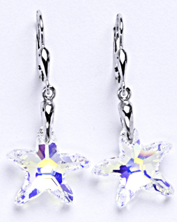 Stříbrné naušnice s krystaly Swarovski AB crystal, NK 1313/27