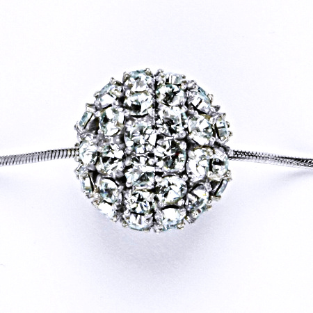 Koule se Swarovski krystalem celostříbrná 16.5 mm light azore přívěsek stříbrný P 1338