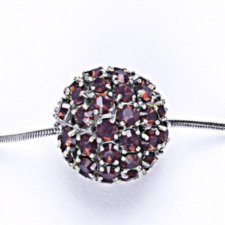 Koule se Swarovski krystalem celostříbrná 16.5 mm cyclamen opal přívěsek stříbrný P 1338