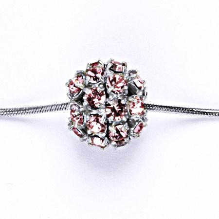 1 Koule se Swarovski krystalem light rose přívěsek stříbrný P 1343