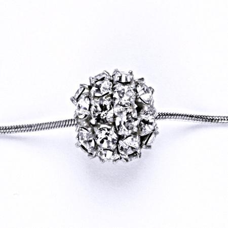 Koule se Swarovski s čirým krystalem přívěšek stříbrný P 1343