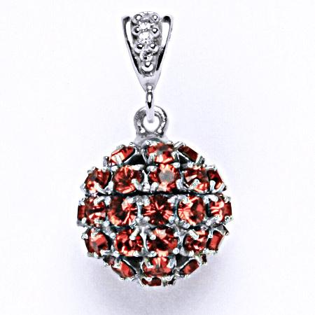 Koule se Swarovski krystalem paparadscha přívěšek stříbrný P 1369/2