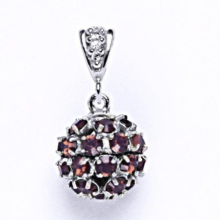 Koule se Swarovski krystalem přívěsek stříbrný cyklamen opal P 1344/2