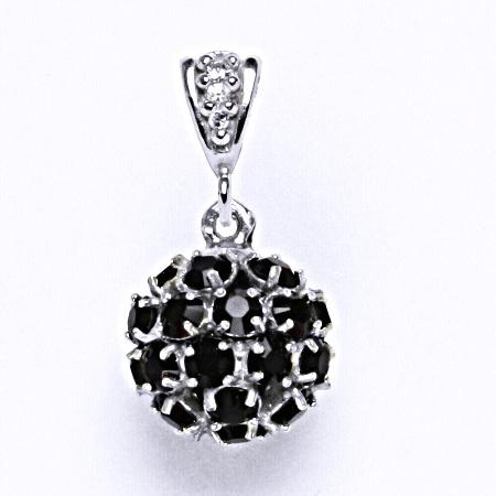 Koule se Swarovski krystalem přívěsek stříbrný garnet P 1344/2