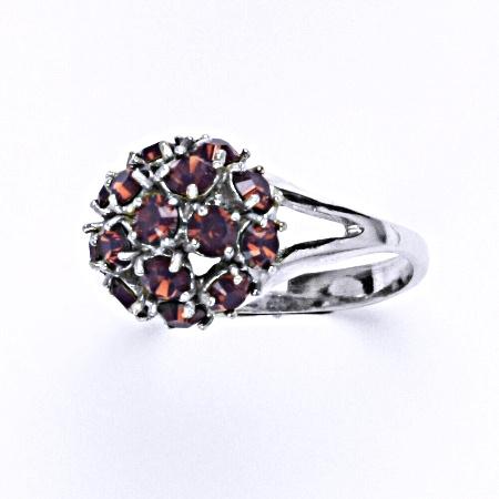Stříbrný prsten s krystalem swarovski cyclamen opal, T 1337