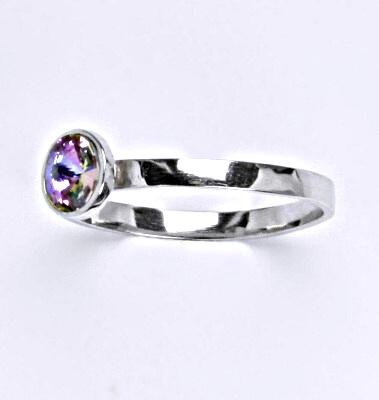 Stříbrný prsten se Swarovski krystalem vitrail light, T 1336